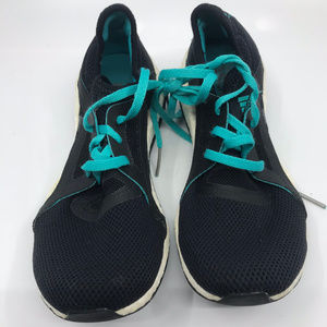 Adidas Ultra Boost Black Blue Sneakers Size 7